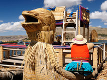 The most interesting places of South America, Floating islands Uros in Peru Stock Images