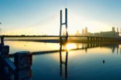 Most jest przy półmrokiem Zdjęcie Stock
