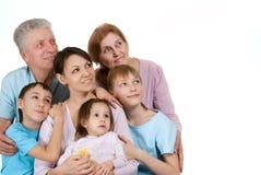 Most joy Caucasian family happy fool Royalty Free Stock Image