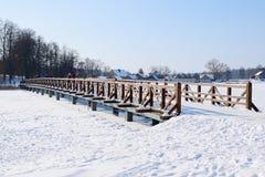 Most kasztel przez jeziornego trakai Obraz Royalty Free