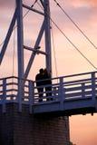 most kilka całowania zdjęcie stock