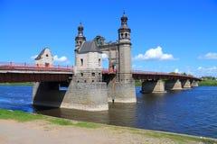 Most królowa Louise przez rzecznego Neman Obrazy Stock