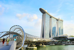Most Marina zatoka, Singapur Obraz Stock
