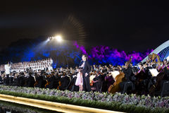 The Most Memorable is Hangzhou. HangZhou China-September 4th 2016: The key participants of the G20 Hangzhou Summit watch the symphony concert `The Most Memorable stock photo