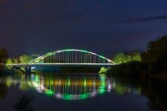 Most między dwa miasteczkami Obrazy Royalty Free