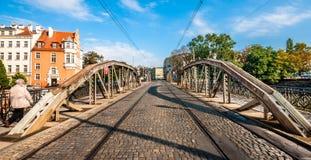 Most Mlynski (Mill Bridge) in Wroclaw Royalty Free Stock Photo