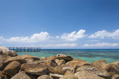 Most morze Obraz Royalty Free