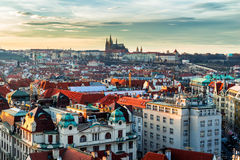 Most mystical and mysterious city in Europe. Prague through the Royalty Free Stock Photo