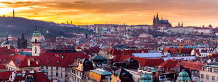Most mystical and mysterious city in Europe. Prague through the Stock Photography