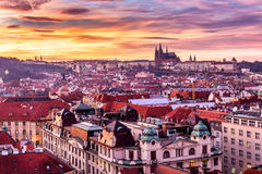 Most mystical and mysterious city in Europe. Prague through the Royalty Free Stock Photos
