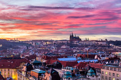 Most mystical and mysterious city in Europe. Prague through the Stock Images