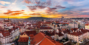 Most mystical and mysterious city in Europe. Prague through the Royalty Free Stock Image