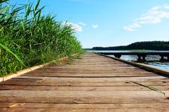 Most na jeziorze Zdjęcie Royalty Free