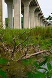 Most na międzystanowi 80 blisko Cleveland, Ohio zdjęcia royalty free