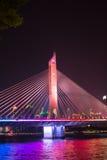 Most na perełkowej rzece zdjęcia royalty free