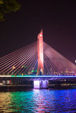 Most na perełkowej rzece obrazy royalty free