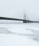 Most na Rzecznym Dnipro w Kyiv Fotografia Stock