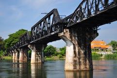 Most na rzecznym Kwai w Tajlandia obraz stock