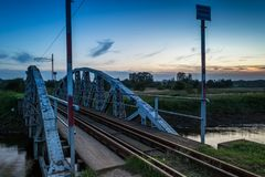 Most na Rzecznym Ner, Polska Fotografia Royalty Free