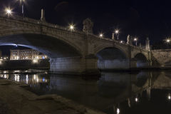 Most na Rzecznym Tiber Obraz Stock
