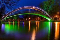 Most na Rzecznym Wielkim Ouse w Bedford, Anglia Obrazy Royalty Free