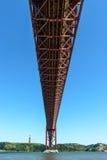 Most na Tagus rzece, Lisbon (Portugalia) Zdjęcia Royalty Free