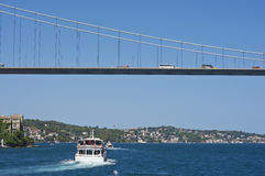 Most nad Bosporus, Istanbuł Zdjęcia Stock