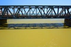 Most nad Entella rzeką Chiavari Liguria Włochy obrazy stock