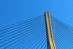 Most nad Guadiana rzeką między Portugalia i Hiszpania, Zdjęcia Royalty Free