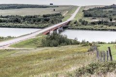 most nad jezioro Zdjęcie Stock