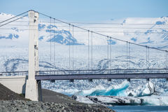Most nad Jokulsarlon, Iceland Fotografia Royalty Free