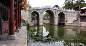 Most nad kanałem, lato pałac, Pekin zdjęcie royalty free