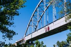 Most nad kanałem Obraz Royalty Free