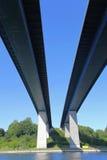 Most nad Kiel kanałem Zdjęcia Royalty Free