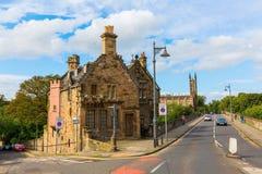 Most nad Leith z dziekan wioską w Edynburg, Szkocja Obraz Royalty Free