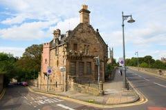 Most nad Leith z dziekan wioską w Edynburg, Szkocja Obrazy Stock