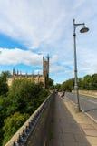 Most nad Leith z dziekan wioską w Edynburg, Szkocja Zdjęcie Royalty Free