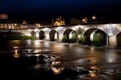 Most nad Loire rzeką Obrazy Royalty Free