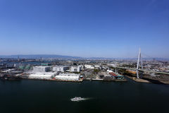 Most nad morzem w Osaka Obrazy Stock