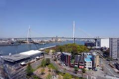Most nad morzem w Osaka Zdjęcia Royalty Free
