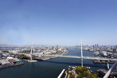 Most nad morzem w Osaka Zdjęcie Stock