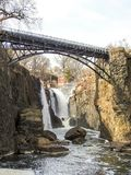 Most Nad Paterson Spada w Paterson, NJ Obraz Royalty Free