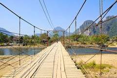 Most nad Pieśniową rzeką Fotografia Stock