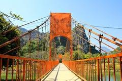 Most nad Pieśniową rzeką Fotografia Royalty Free