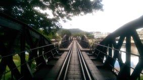 Most nad rzecznym Kwai Obrazy Royalty Free