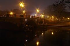 Most nad rzecznym spee w Berlin Obrazy Royalty Free