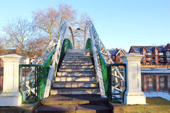 Most nad rzeką. zdjęcie royalty free