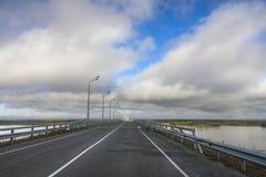 most nad rzeką Obrazy Royalty Free