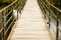 most nad rzeką Fotografia Royalty Free