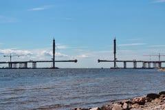 most nad rzeką Zdjęcie Royalty Free